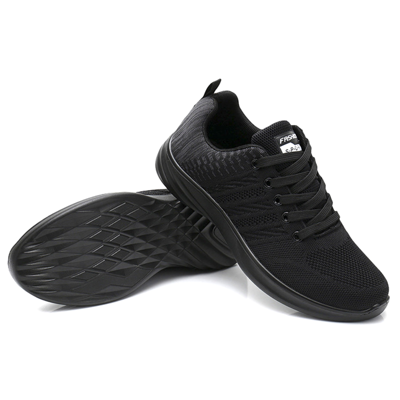 Casual Shoes Men's Sports Shoes Brand Men's Shoes Fly Woven Mesh Mesh Flat Shoes Large Size Breathable Spring And Autumn Winter