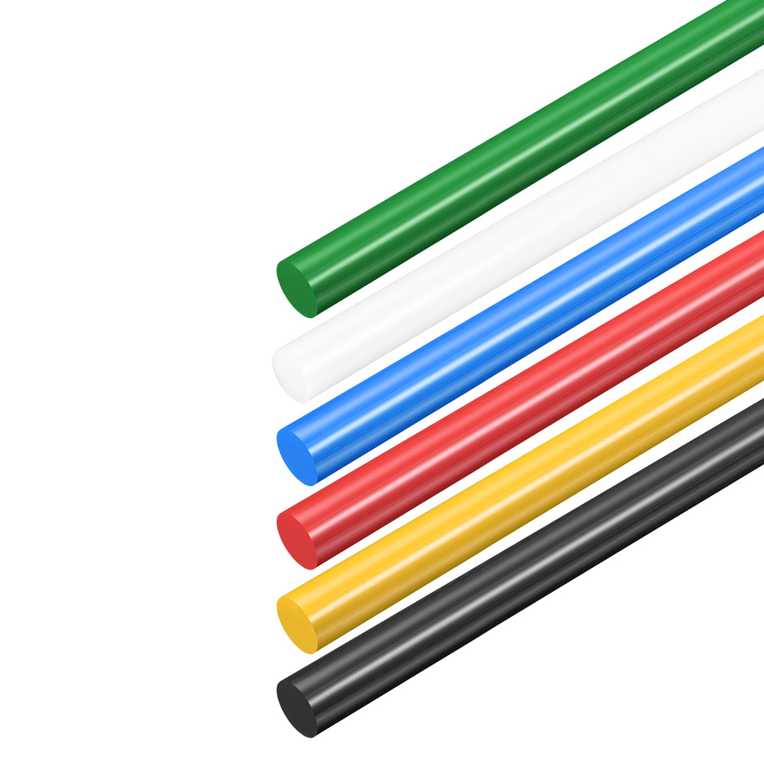 Uxcell 1Pcs 2Pcs 3Pcs Plastic Round Rod Polyoxymethylene Rods 6mm Dia 50cm Length Engineering Plastic Round Bar Tough Stable