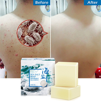 Natural Sea Salt Soap Cleaner Removal Pimple Pores Acne Treatment Goat Milk Moisturizing Face Body Skin Care Wash Basis Soaps недорого