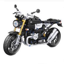 Kazanan 7052 MOC 621 adet statik retro motosiklet modeli monte yapı taşı tuğla DIY oyuncaklar çocuklar için doğum günü hediyesi