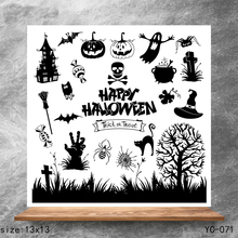 ZhuoAng Horror pumpkin Clear Stamps/Silicone Transparent Seals for DIY scrapbooking photo album Stamps