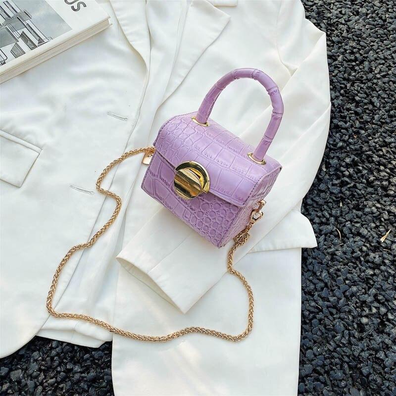 Lipstick Bags Super Mini Stone Pattern PU Leather Crossbody Bags For Women 2020 Chain Shoulder Bag Travel Cute Box Handbags
