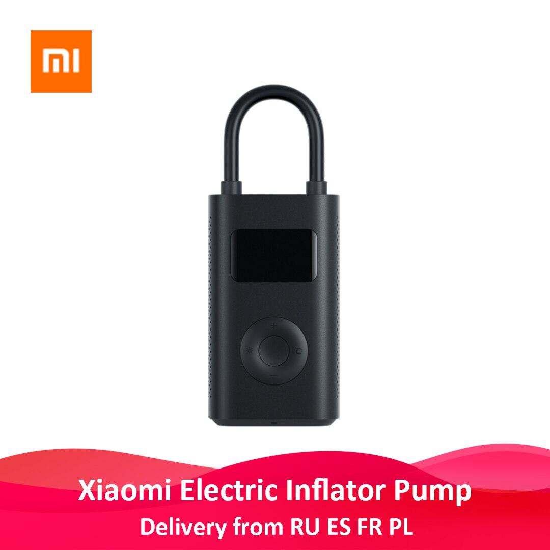 Xiaomi насос для шин портативный мини светодиодный умный цифровой датчик давления в шинах электрический воздушный насос для велосипеда мотоц...