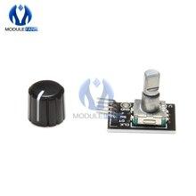 5PCS 360 Grad Rotary Encoder Modul Für Arduino Brick Sensor Schalter Entwicklung Board Mit Halb Welle Loch Caps