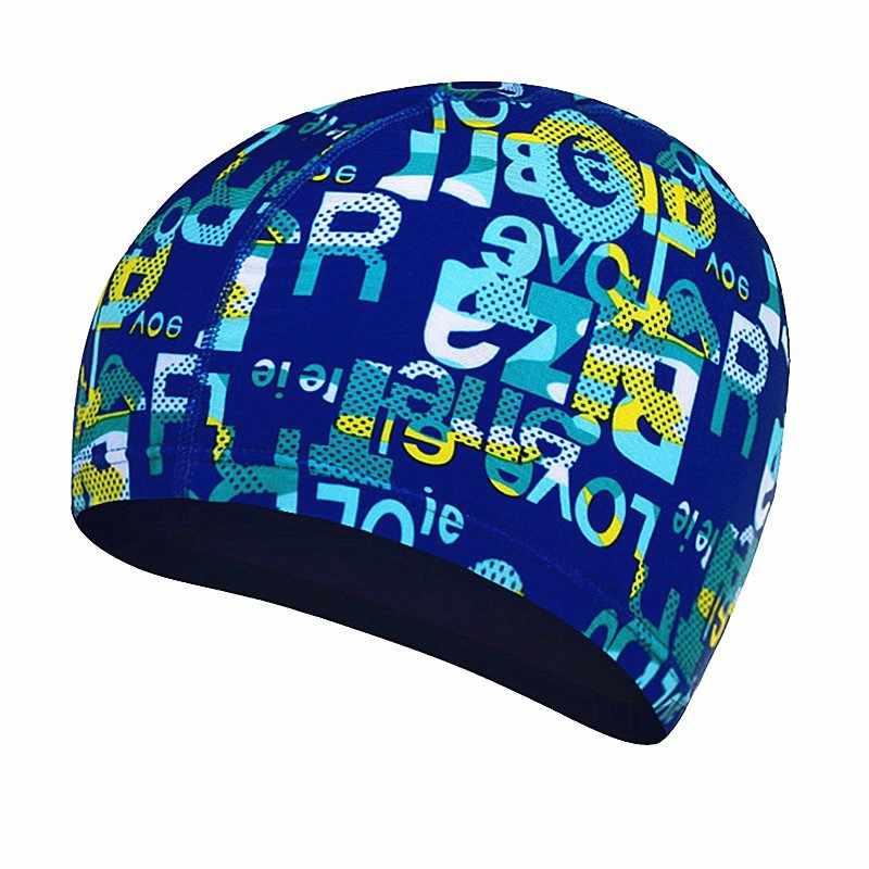 1Pc Hoge Elastische Zwemmen Caps Waterdichte Rekbaar Bescherming Oren Lange Haar Sport Zwemmen Zwembad Hoed Baden Hoed Volwassen Hoeden