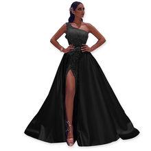 Женское платье без рукавов Длинное свободное с блестками и бантом