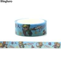 Blinghero Anime Hero 15mmX5m Washi Tape Personalized Masking Tape Stationery Sticker Cool Hand Account Tape Adhesive Tape BH0021
