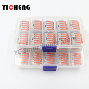 Image 5 - 10 Pcs Box Case Universal Compact Wire Bedrading Connector 2 Pin Dirigent Terminal Block Met Lever 0.08 2.5mm2 Draad connector Diy