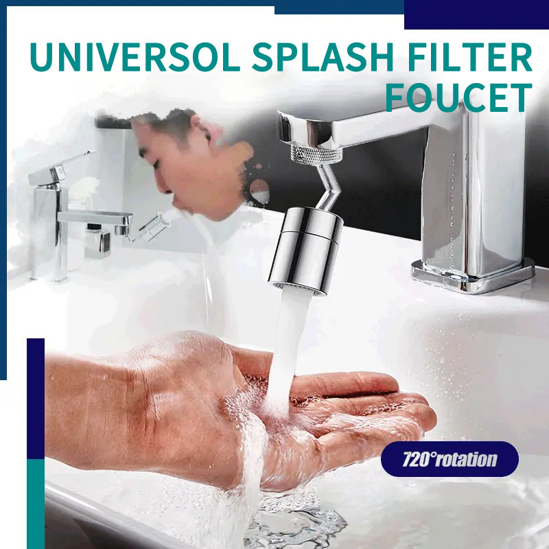 720 Degrees Innovative Universal Splash Filter Faucet Anti Splash Filter Faucet Movable Kitchen Tap Water Saving Nozzle Sprayer