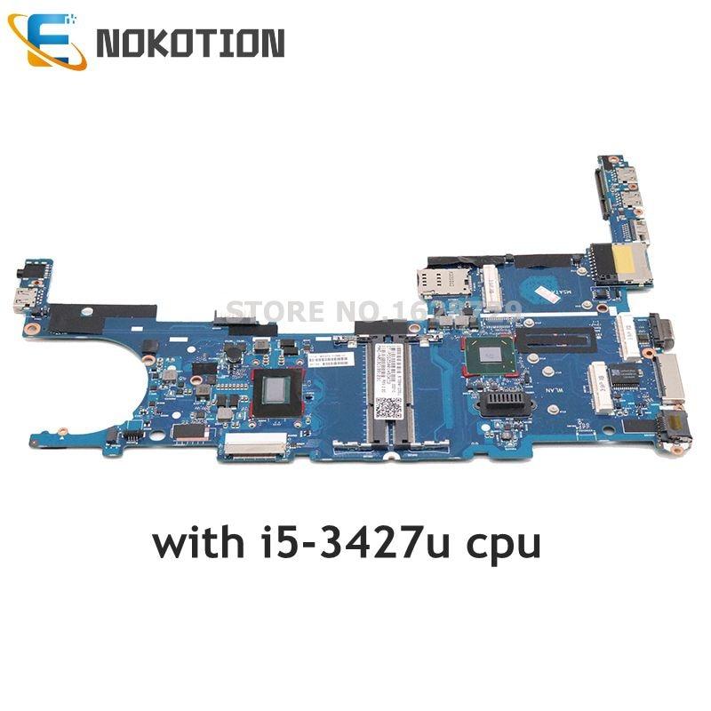 NOKOTION 702849-001 702849-501 702849-601 For HP EliteBook Folio 9470M 6050A2514101-MB-A02 Laptop Motherboard I5-3427u Onboard