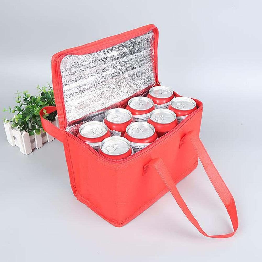 Portable Lunch Bag Can Cooler Pack Food Packing Container Thermal Insulated Lunch Bag Non-woven Cloth Eco-friendly Food Storage