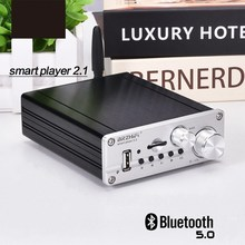 Bluetooth 5.0 Hifi TPA3116 50W + 50W + 100W 2.1 Channel Stereo Audio Subwoofer Amplfiier Bass Amp board Tf Usb Fm Auto Home Theater