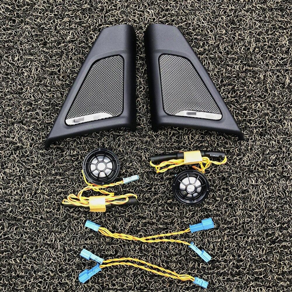 Coche para altavoz de puerta delantera para BMW F10 F11 serie de audio de alta calidad trompeta tweeter cubierta cabeza bocina de agudos decoración de Marco trim