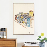 Framed Canvas Vases By Egon Schiele Oil Painting on Canvas and Prints Wall Art Picture For Living Room Cuadros