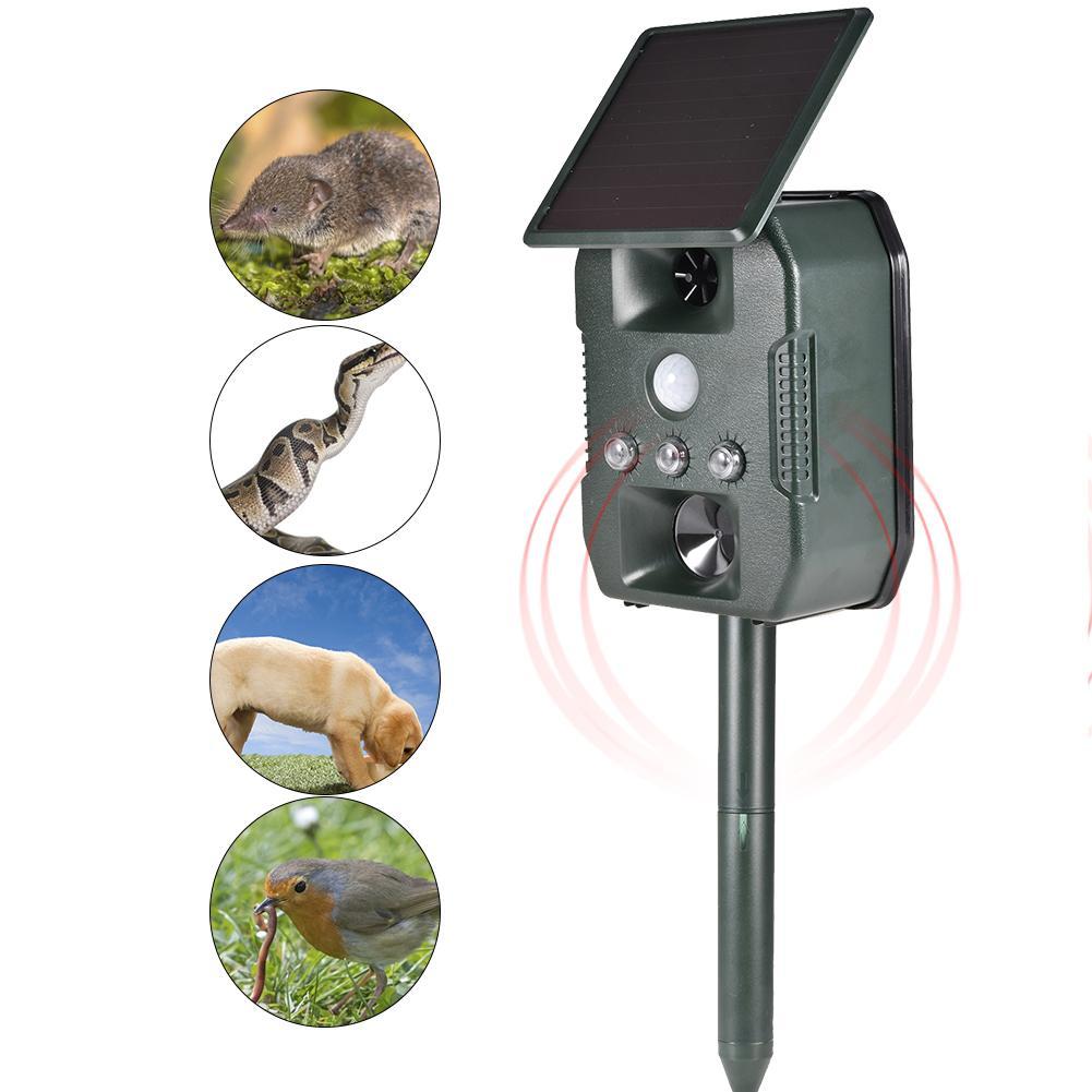 Купить отпугиватель животных на солнечной батарее ультразвуковой отпугиватель