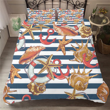 Bedding Cover Soft Material Starfish Printed Duvet Cover Set Cartoon Pattern Home Textiles King Single Size with Pillowcases