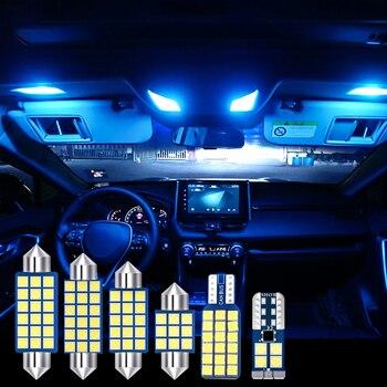 For Toyota RAV4 2019 2020 6pcs Error Free LED Car interior light reading light Trunk lights Cab light Modification accessories 11pcs error free white premium led interior light kit package for 2006 2012 toyota rav4 installation tools