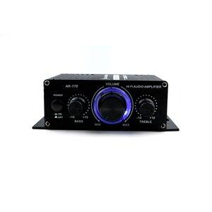 Image 4 - AK170 12 فولت صوت صغير مكبر كهربائي استقبال الصوت الرقمي أمبير قناة مزدوجة 20 واط + 20 واط باس ثلاثة أضعاف التحكم في مستوى الصوت للاستخدام المنزلي سيارة