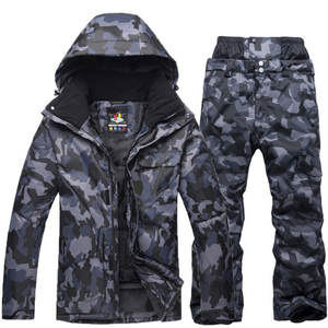 Snowboard Jacket Suits Winter Camouflage Skiing Waterproof New Male And Men Breathable