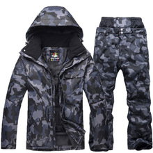 Snowboard Jacket Ski-Suit Waterproof Camouflage Skiing Male Winter New And Breathable