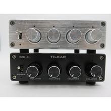 1 المدخلات 4 الناتج RCA الصوت الموزع مكبر للصوت ضياع مقسم صوت NE5532 المرجع أمبير مع لهجة حجم التحكم مكبرات