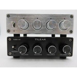 Image 1 - 1 entrée 4 sorties RCA Audio distributeur amplificateur sans perte séparateur Audio NE5532 Op Amp avec amplificateur de contrôle du Volume de tonalité
