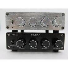 1 ingang 4 Output RCA Audio Distributeur Versterker Lossless Audio Splitter NE5532 Op Amp Met Tone Volume Versterkers