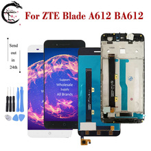 """5 """"lcd com quadro para zte lâmina a612 ba612 display lcd de tela toque sensor digitador assembléia a612 substituição display completo"""