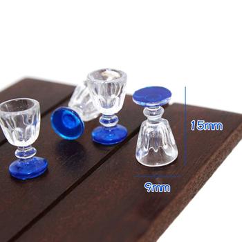 4 sztuk 1 12 skala DIY części z tworzywa sztucznego przejrzyste czara miniaturowe Mini wino piwo kubek domek dla lalek rzemiosło dekoracji wnętrz szkło tryb tanie i dobre opinie Panghuhu88 CN (pochodzenie) Unisex Kitchen Glass Beer Wine Cup Drink Bottles 3 lat Wyroby gotowe