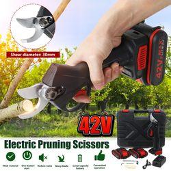 Sécateur électrique 30mm 42V sécateur Rechargeable avec batterie li-on coupe-lame tranchante sans fil ciseaux de jardin