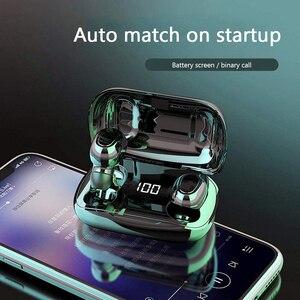 Image 1 - マイク付きワイヤレスステレオヘッドセット,Bluetooth 5.0付きスポーツヘッドセット,充電ボックス付き
