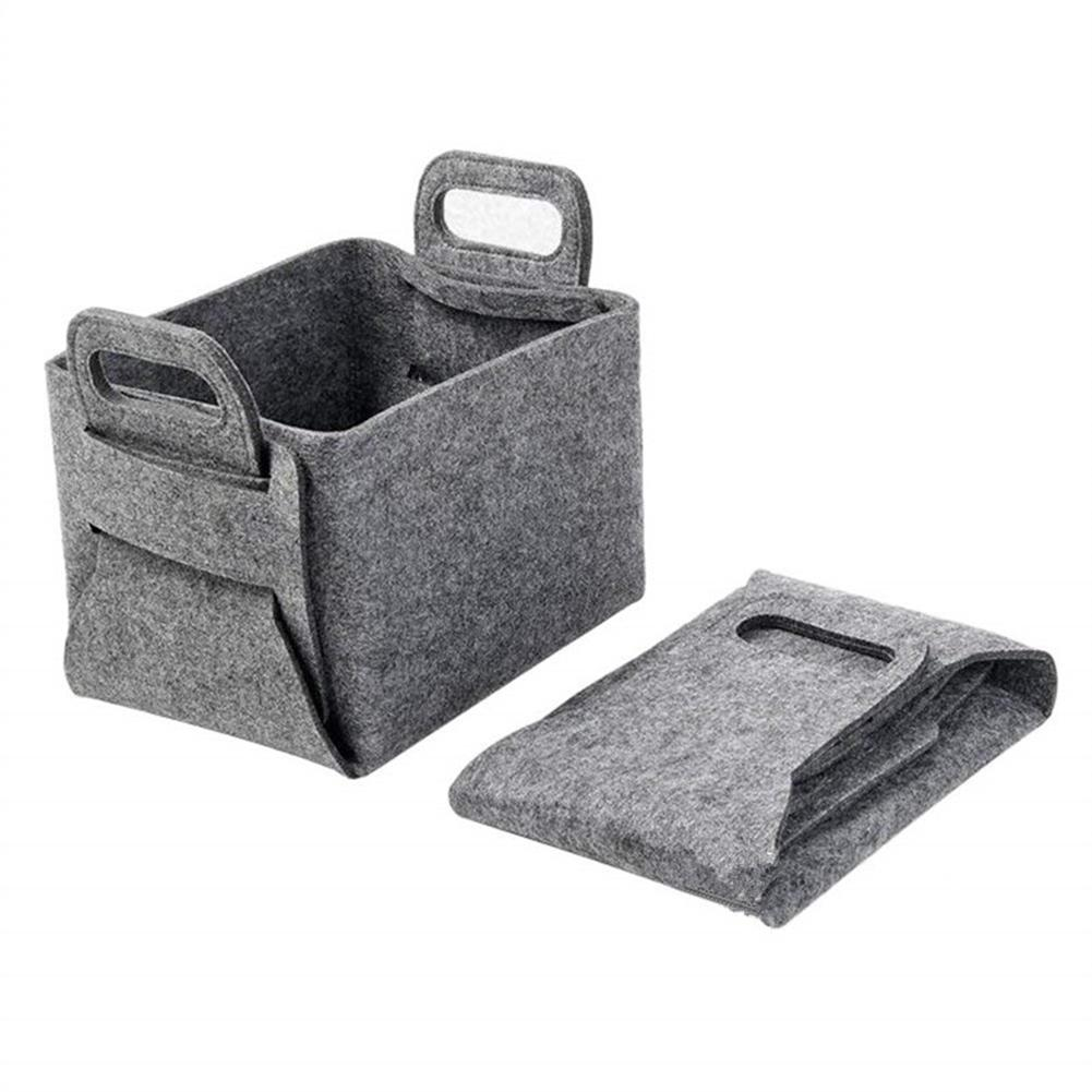 Hot Portable Folding Laundry Basket Felt Toy Books Clothes Cleaning Storage Holder Container Organizer