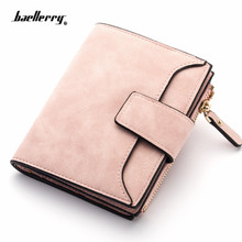 2020 Leather Women Wallet Hasp Small and Slim Coin Pocket Purse Women Wallets Cards Holders Luxury Brand Wallets Designer Purse cheap HEONYIRRY CN(Origin) Short 110g Polyester 10cm Solid Fashion B114 Interior Slot Pocket Interior Compartment Zipper Poucht