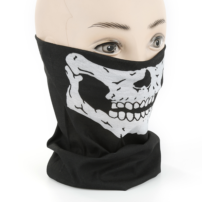 3D Skull Seamless Magic Scarf Face Mask Fishing Cycling Ski Bandanas Outdoor Headband Tube Scarf Men Women Neck Scarves