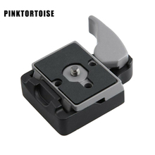 PINKTORTOISE Metal Alloy 323 Quick Release Plate Mount Adapter With Full Manfrotto 200PL-14 Compat Plate цена и фото