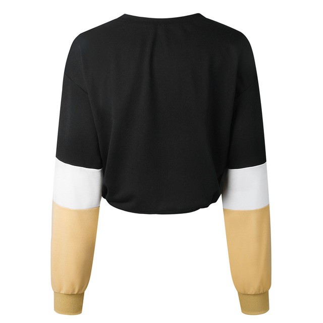 Jaycosin Fashion Womens Long Sleeve Splcing Color Sweatshirt Casual Cool Chic New Look Comfortable Pullover Tops Blouse 4