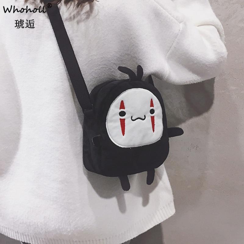 Lovely Mori Girl Lovely Shoulder Bags Cosmetic Bags For Woman 2020 Japanese Cartoon Spirited Away No Face Man Messenger Bag