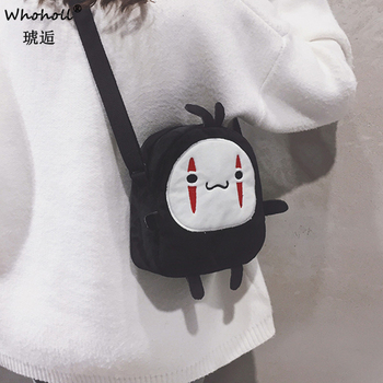 Lovely Mori Girl Lovely Shoulder Bags Cosmetic Bags For Woman 2020 Japanese Cartoon Spirited Away No Face Man Messenger Bag фото