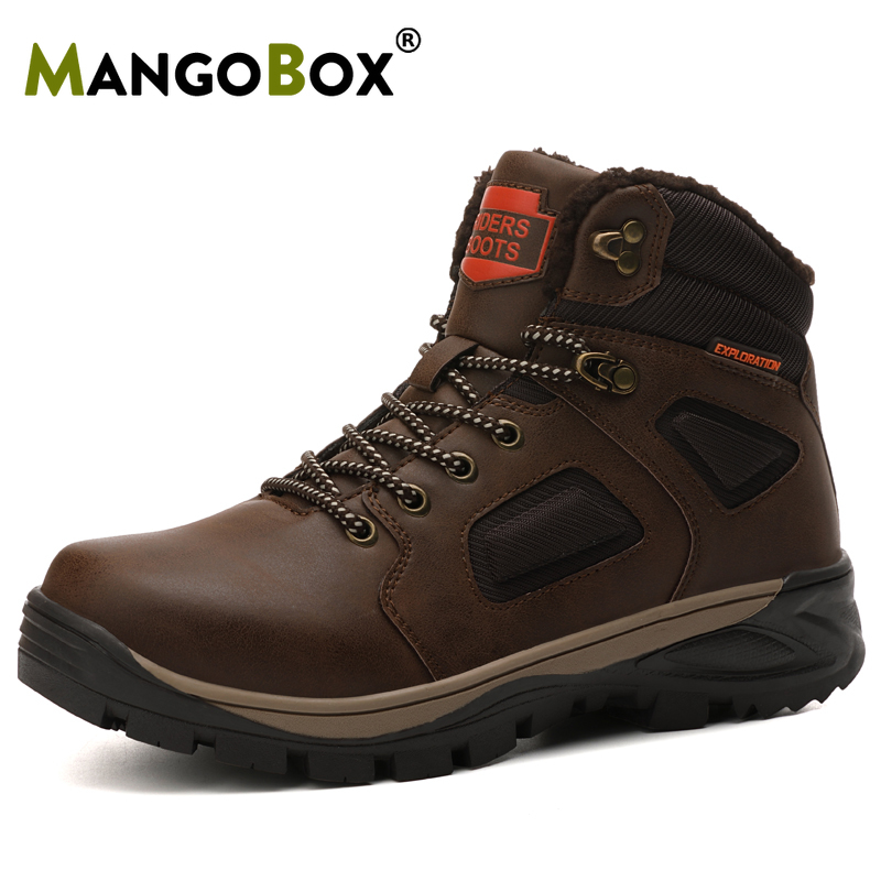 Outdoor Men Shoes Hiking-Boots Walking-Sneakers Comfortable Sport High-Top Cool New
