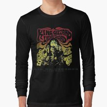 Rei giz manga longa t camisa 100% algodão puro tamanho grande rei gizzard e o lagarto wizard brooklun show rei gizzard e o