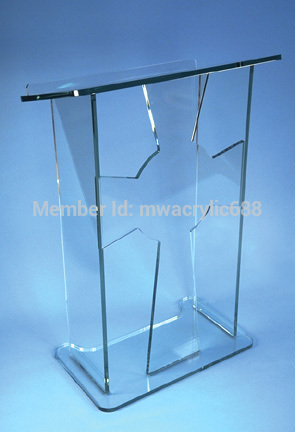 Pulpit FurnitureFree Shipping Popularity Cross Shape Beautiful Modern Design Cheap Clear Acrylic Lecternacrylic Pulpit