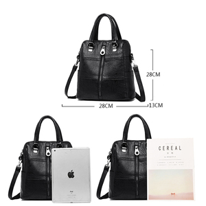 Image 4 - Luxury Women Leather Backpack Female Shoulder Bags For Women 2020 Travel Backpack Bagpack Mochilas School Bags For Teenage Girls