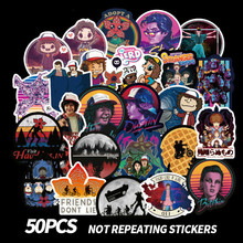 50PCS Stranger Things Stickers Pack Anime Sticker for Children on The Laptop Fridge Phone Skateboard Suitcase Funny Cool
