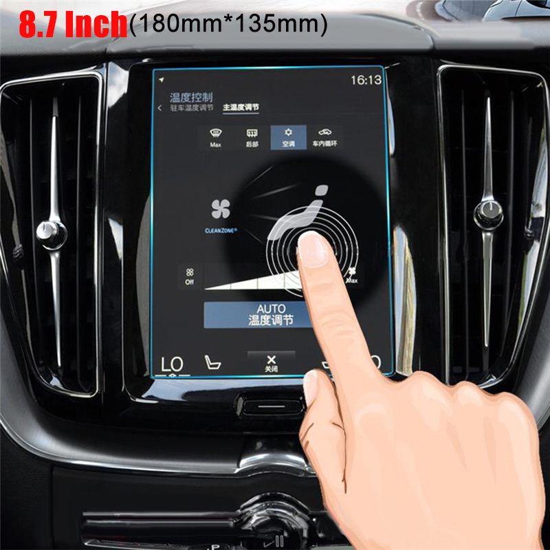 Car Navigation GPS Screen Protector Tempered Toughened Film For <font><b>Volvo</b></font> S90 <font><b>XC60</b></font> XC90 XC40 2016 2017 2018 <font><b>2019</b></font> V90 V60 8.7 Inch image