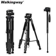 Walkingway Q222 Camera Statief Tripode Stative Licht Professionele Statief Monopod Travel Stand Voor Camera Dslr Smartphonepojector