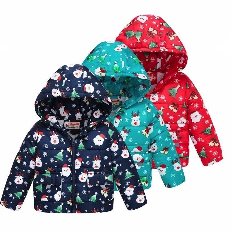 Boys Girls Cartoon Style Winter Jackets Coat