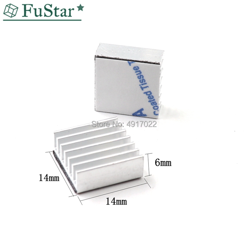 10pcs Silver Computer Cooler Radiator Aluminum Heatsink Heat sink for Electronic Chip Heat dissipation Cooling Pads 14*14*6mm