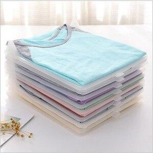Image 2 - 10ピース/セット衣類収納ボードスためシャツ自宅保管組織スペース分離ツールH1234