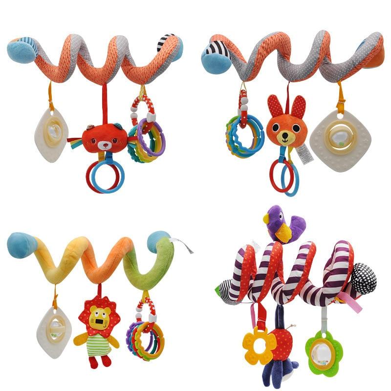 QWZ yeni asılı Spiral çıngırak arabası sevimli hayvanlar dönence yatak bebek oyuncakları 0-12 ay yenidoğan eğitici oyuncak çocuklar için