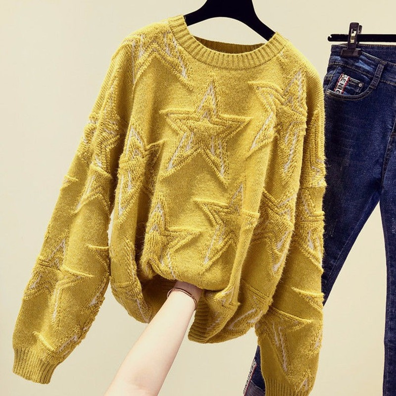 2020 Spring And Autumn New Net Red Lazy Sweater Women Loose Pullover Knitting Bottoming Shirt Long Sleeve Tide